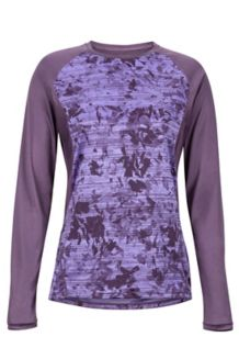 Women's Crystal LS Shirt, Vintage Violet Mind Game, medium