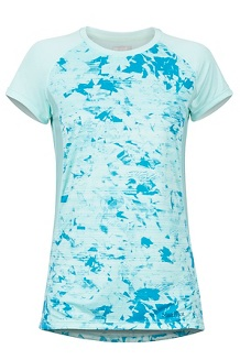 Women's Crystal SS Shirt, Blue Tint Mind Game, medium