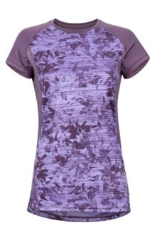 Women's Crystal SS Shirt, Vintage Violet Mind Game, medium