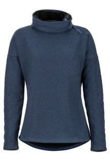 Women's Mina LS Fleece, Vintage Navy, medium