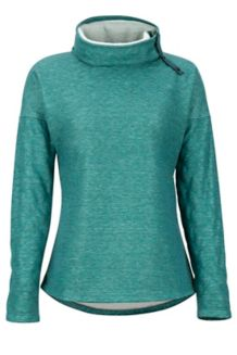 Women's Mina LS Fleece, Mallard Green, medium