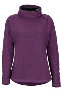 Women's Mina LS Fleece, Dark Purple, medium