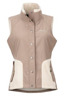 Women's Mia Vest, Cappuccino/Oatmeal, medium