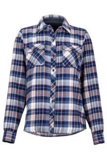 Women's Bridget Midweight Flannel LS Shirt, Arctic Navy, medium