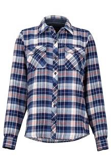 Women's Bridget Midweight Flannel LS Shirt, Arctic Navy, medium
