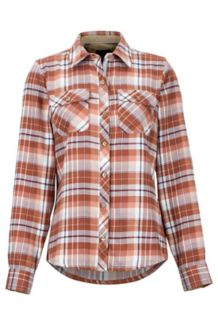 Women's Bridget Midweight Flannel LS Shirt, Cappuccino, medium