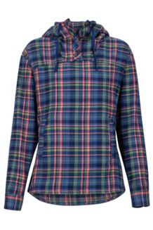 Women's Shelley Midweight Flannel LS Shirt, Arctic Navy, medium
