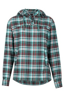 Women's Shelley Midweight Flannel LS Shirt, Mallard Green, medium