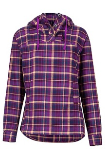 Women's Shelley Midweight Flannel LS Shirt, Grape, medium