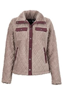 Women's Janna Jacket, Cappuccino/Burgundy, medium