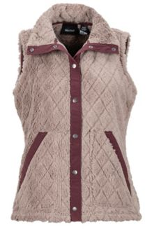 Women's Janna Vest, Cappuccino/Burgundy, medium