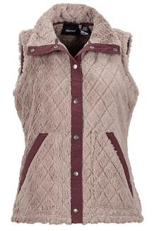Women's Janna Vest, Cappuccino/Burgundy, medium