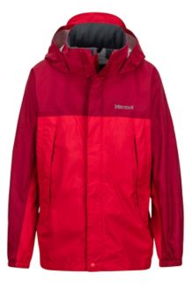 Boy's PreCip Jacket, Tomato/Sienna Red, medium