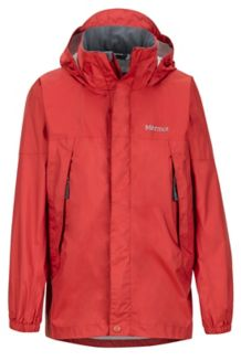 Boy's PreCip Jacket, Auburn, medium