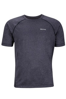 Accelerate SS Shirt, Black Heather, medium