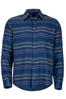 Enfield Flannel LS, Dark Indigo Heather, medium