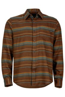 Enfield Flannel LS, Rich Brown Heather, medium