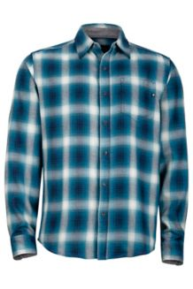 Fairfax Flannel LS, Denim, medium