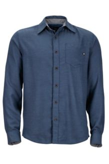 Hobson Flannel LS, Dark Indigo Heather, medium