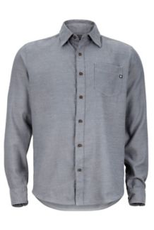 Hobson Flannel LS, Slate Grey Heather, medium