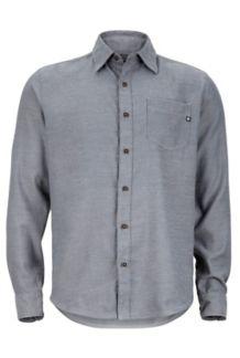 Hobson Flannel LS, Slate Grey Heather, medium