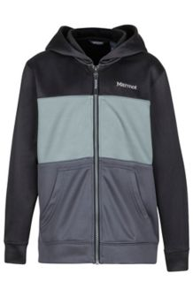 Boy's Rincon Hoody, Black/Slate Grey, medium