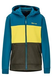 Boys' Rincon Hoody, Rosin Green/Moroccan Blue, medium