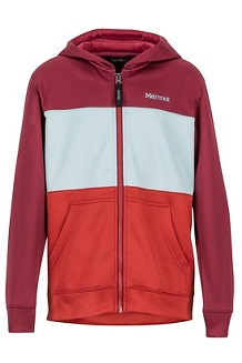 Boys' Rincon Hoody, Madder Red/Auburn, medium