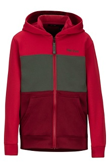 Boys' Rincon Hoody, Brick/Team Red, medium