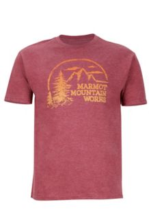 Halation Tee SS, Burgundy Heather, medium