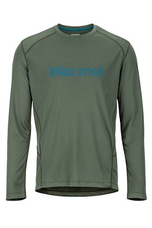 Men's Windridge with Graphic Long-Sleeve T-Shirt, Crocodile/Moroccan Blue, medium