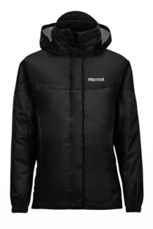 Girl's PreCip Jacket, Black, medium