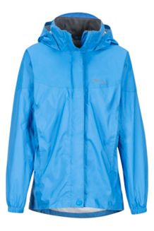 Girl's PreCip Jacket, Lakeside, medium