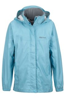 Girl's PreCip Jacket, Sky High, medium
