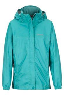 Girls' PreCip Jacket, Patina Green, medium