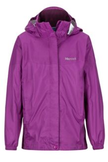 Girls' PreCip Jacket, Grape, medium