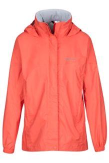 Girl's PreCip Jacket, Living Coral, medium