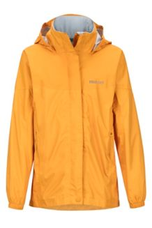 Girl's PreCip Jacket, Golden Eye, medium