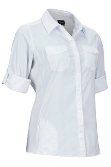 Women's Annika LS Shirt, White, medium