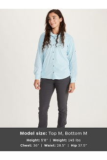 Women's Annika LS Shirt, Mandarin Mist, medium