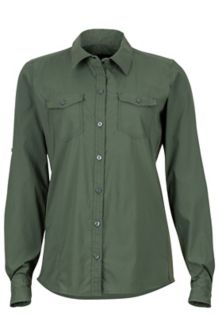 Women's Annika LS Shirt, Crocodile, medium