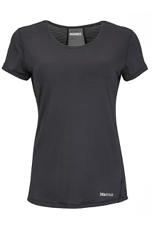 Women's Aero SS Shirt, Black, medium
