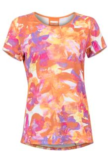 Women's Aero SS Shirt, Bonfire Floral Camo, medium