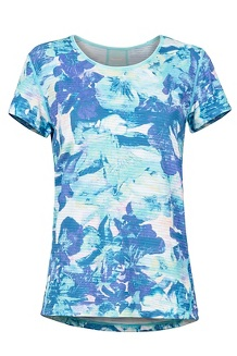 Women's Aero SS Shirt, Skyrise Floral Camo, medium