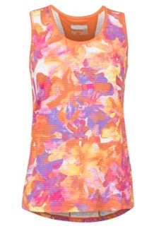 Women's Aero Tank, Bonfire Floral Camo, medium