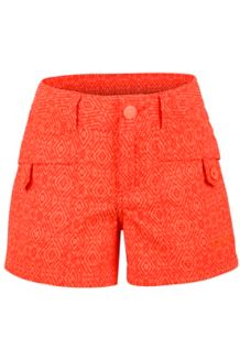 Girl's Ginny Short, Emberglow Ikat, medium