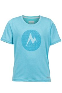 Girl's Post Time Tee SS, Light Aqua Heather, medium