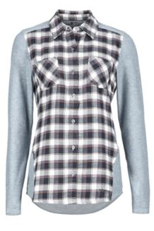 Wm's Lani Flannel LS, Dark Steel, medium