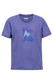 Girl's Post Time Tee SS, Electric Purple Heather, medium