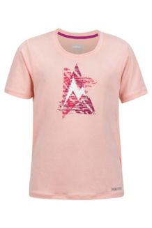 Girl's Post Time Tee SS, Rosebud Heather, medium